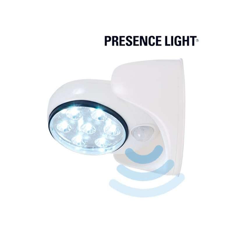 lampe d 39 appoint piles projecteur avec d tecteur de mouvement totalcadeau. Black Bedroom Furniture Sets. Home Design Ideas