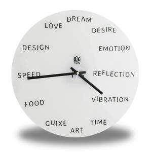 Horloge murale avec mots anglais