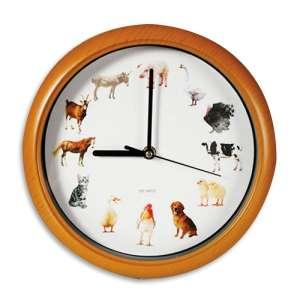 Horloge murale mélodie animaux de la ferme musique
