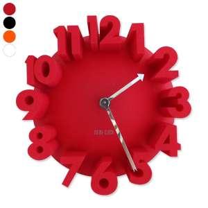 Horloge grands chiffres relief 3D