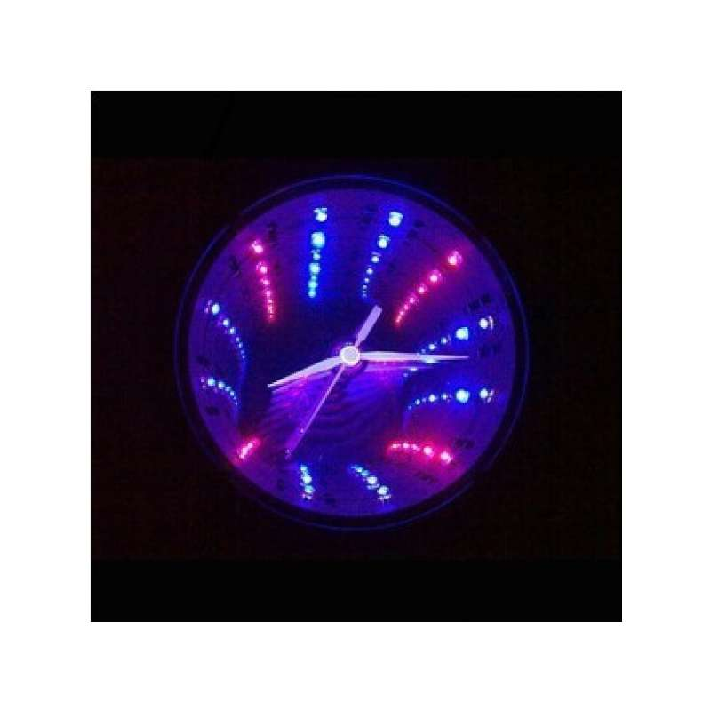 horloge tunnel led lumineux led rouge et bleu totalcadeau. Black Bedroom Furniture Sets. Home Design Ideas
