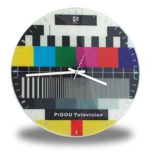 Horloge murale mire télévision