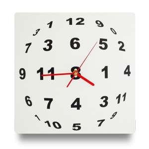 Horloge illusion optique en sphère de chiffre