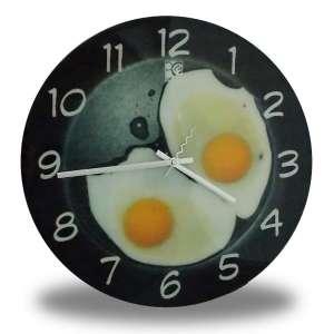 Horloge cuisine œufs sur le plat