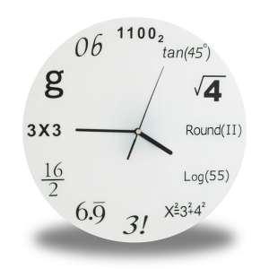 Horloge symbole scientifiques mathématiques