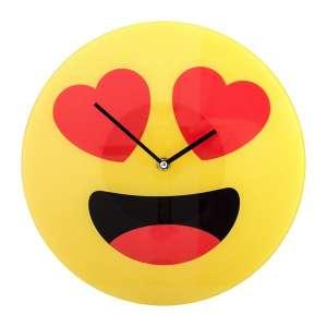 Horloge murale émoticône amoureux émoji