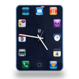 Horloge murale menu d'iPhone Ipad ipod