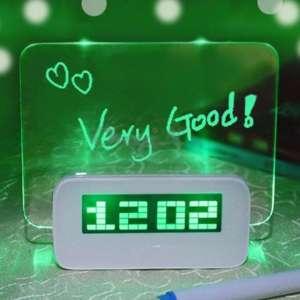 Réveil pense-bête lumineux, LED message lumineux