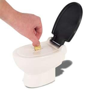 Tirelire cuvette des toilettes forme de WC