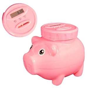 Tirelire en forme de cochon à avec compte-pièces compteur