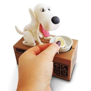 Tirelire chien mangeur de pièces voleur