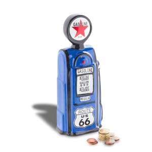 Tirelire pompe à essence en céramique station service