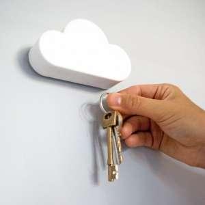 Range-clés magnétique nuage blanc magnétique