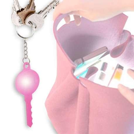 Porte-clés LED lumineux retrouve-clés