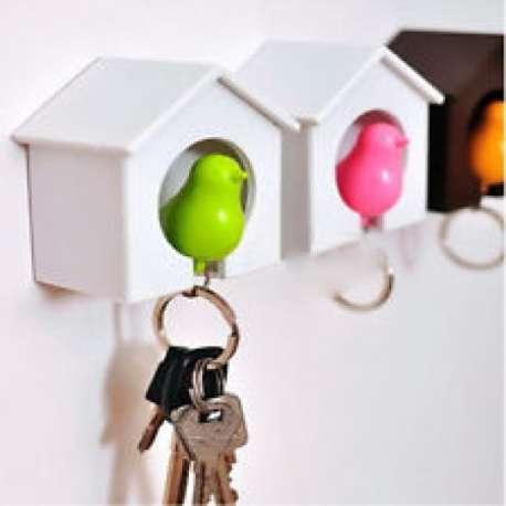 Cabane range-clés et porte-clés oiseau