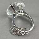 Porte-clé bague diamant femme bague 5 anneaux