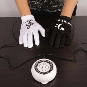 Paire de gants musique piano électronique haut-parleur