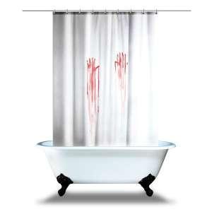 Rideau de douche traces de mains sanglantes en sang