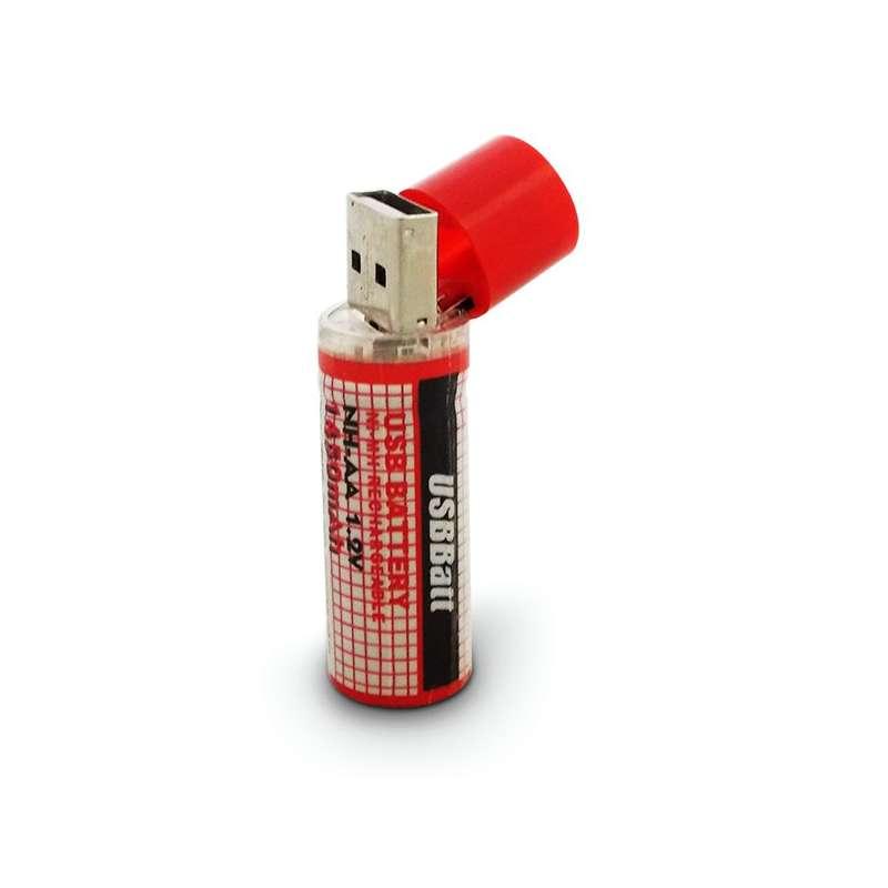 Pile aa conomique rechargeable par voie d 39 usb totalcadeau - Pile rechargeable aa ...