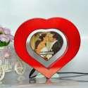 Coeur lumineux et coeur porte-photos flottant lévitation magnetique
