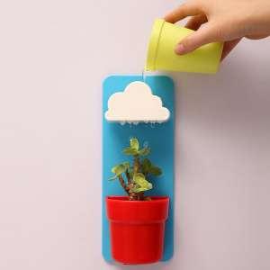 Pot avec nuage arroseur : support mural, nuage, 1 pot, sa grille
