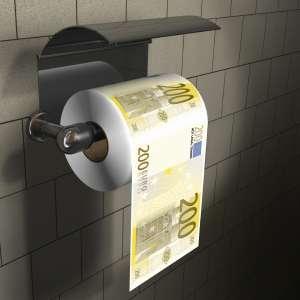 Rouleau de papier toilettes billet de 200 euros
