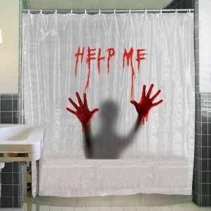 Rideau de douche Help Me ensanglanté sang