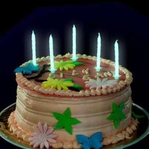 Lot de 20 bougies à couleur phosphorescente brillent dans le noir