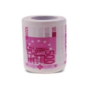 Papier toilettes en forme de billet de 500 euros