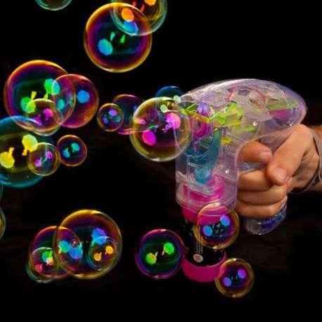 Pistolet à bulles lumineuses et colorées