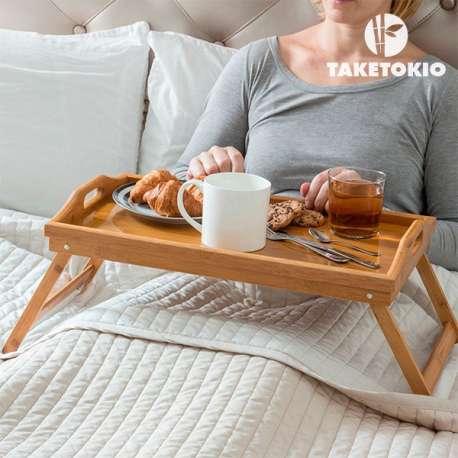 Plateau repas avec pieds pliants petits déjeuners au lit