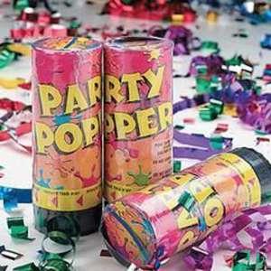 Lot de 3 boîtes lanceur de confettis fête