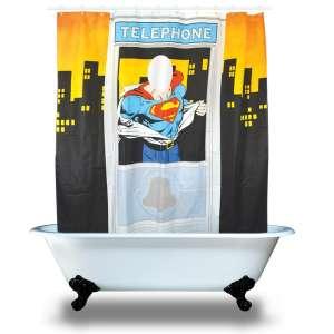 Rideau de douche Superman au téléphone