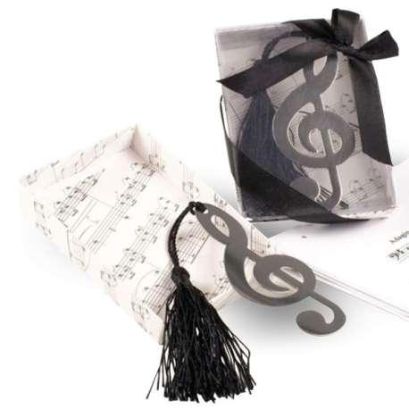 Marque-pages forme de clé musicale Sol