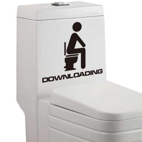 Sticker de décoration WC Downloading