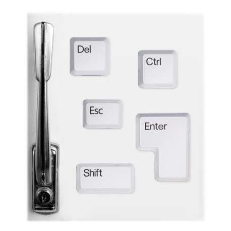 Lot de 5 aimants touches de clavier magnet