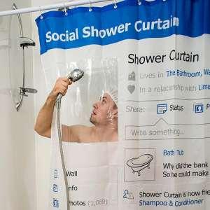 Rideau de douche profil réseau sociaux