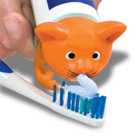 Bouchon pour distribution de dentifrice forme de chat