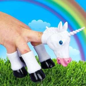 Licorne marionnette pour doigts