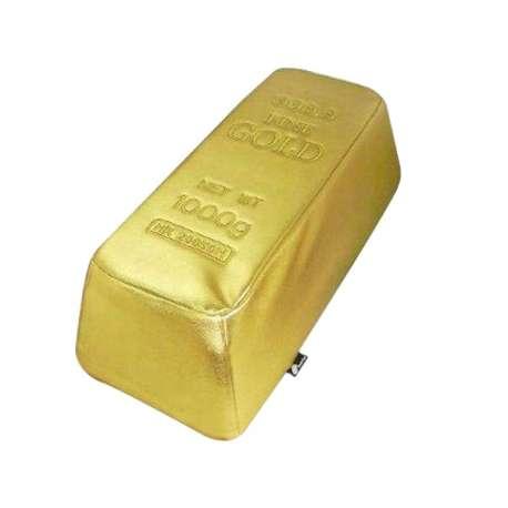 Pouf en forme de lingot d'or
