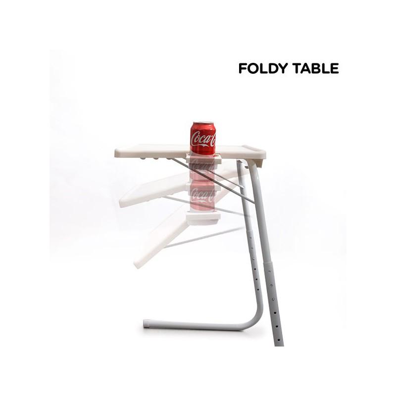 Table Pliante Ajustable Niveaux En Hauteur Et Inclinable
