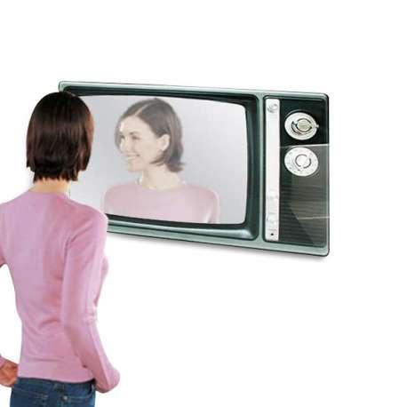 Miroir télévision année 60 retro