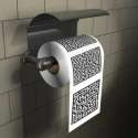 Papier toilettes WC en forme de labyrinthe PQ