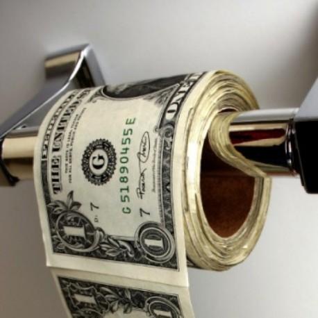 Papier WC toilette PQ imprimé 100 dollars