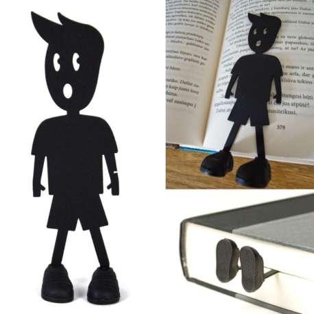Marc le marque-pages à pieds en 3D