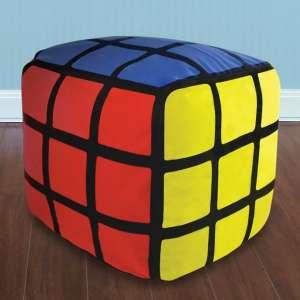 Pouf Rubik's cube à gonfler coussin