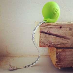 Mètre de mesure apparence escargot mesureur