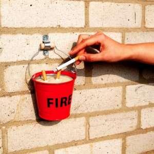 Cendrier seau FIRE incendie avec anse