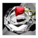 Cendrier octogonal en verre fond miroir