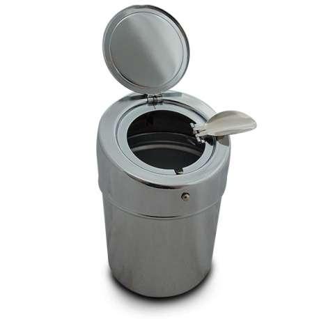 Cendrier portable chromé Cendrier de poche